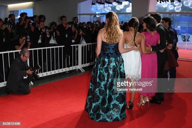Lou Luttiau Shain Boumedine Hafsia Herzi Alexia Chardard Ophelie Bau Salim Kechiouche and Mel Einda El Asfour walk the red carpet ahead of the...
