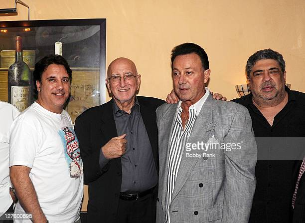 Lou Martini Jr Dominic Chianese Tony Darrow and Vincent Pastore attend The Sopranos Celebrity Dinner at Empire Steak House on September 29 2011 in...