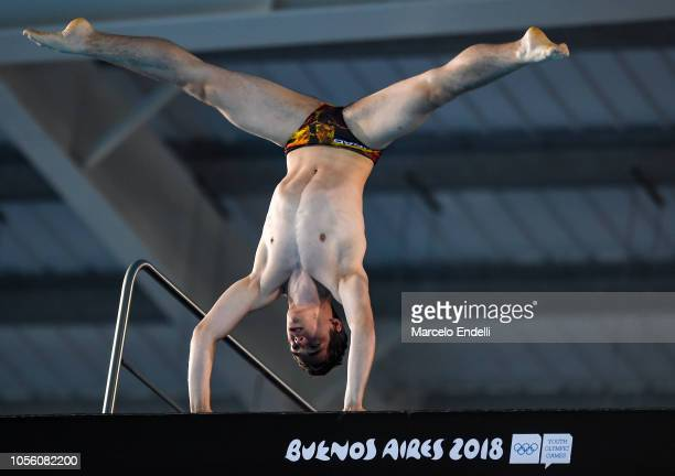 Lou Massenberg of Germany competes in the Mixed International Team Final during Day 11 of Buenos Aires Youth Olympic Games 2018 at Europe Pavilion in...