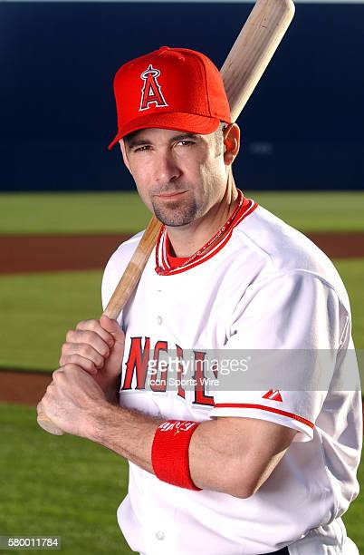 Lou Merloni of the Anaheim Angels poses for a picture during spring training in Tempe AZ