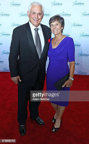 Lou Nanne and wife walk the red carpet at the 2016 Starkey Hearing Foundation So the World May Hear awards gala at the St Paul RiverCentre on July 17...