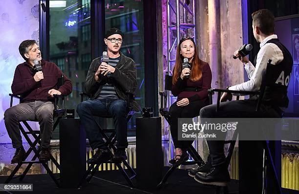 Lou Pepe Keith Fulton and Vonda Viland attend AOL Build to discuss the film 'The Bad Kids' at AOL HQ on December 12 2016 in New York City
