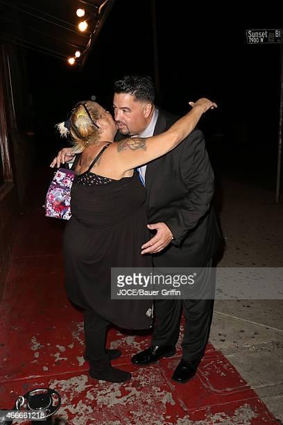 Lou Pizarro and Sonia Pizarro are seen in Los Angeles on March 17, 2015 in Los Angeles, California.