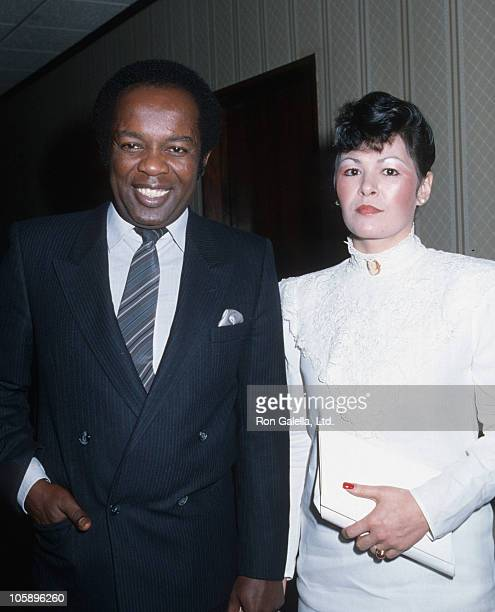 Lou Rawls and wife during Lou Rawls Sighting at the Beverly Hilton Hotel - January 1, 1985 at Beverly Hilton Hotel in Beverly Hills, California,...