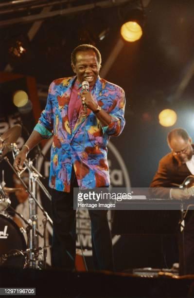 Lou Rawls, North Sea Jazz Festival, The Hague, Netherlands, 1992. Artist Brian Foskett.