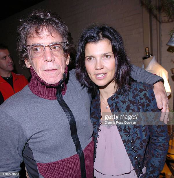 Lou Reed and Ali Hewson during Ali Hewson and Rogan Gregory Present a Preview of EDUN Spring Summer 2006 at 5 Ninth in New York New York United States