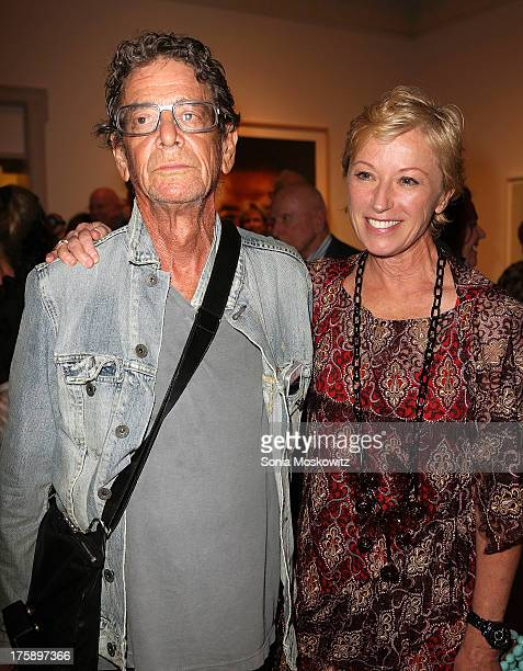 Lou Reed and Cindy Sherman attend the 2013 Guild Hall Summer Gala at Guild Hall on August 9 2013 in East Hampton New York