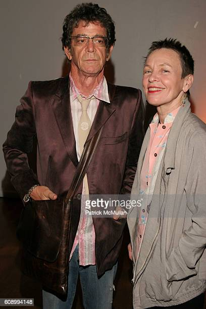 Lou Reed and Laurie Anderson attend The Kitchen Spring Gala Benefit 2007 at The Puck Building on May 23 2007 in New York City