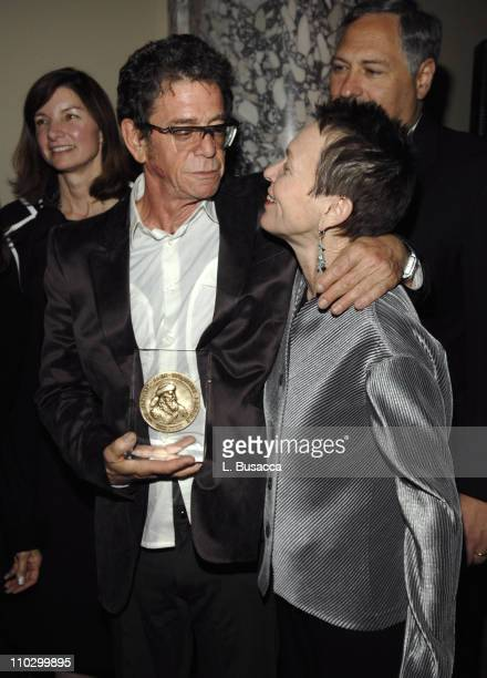 Lou Reed and Laurie Anderson during Lou Reed is Awarded George Arents Pioneer Medal Syracuse University's Highest Alumni Award at W New York Union...