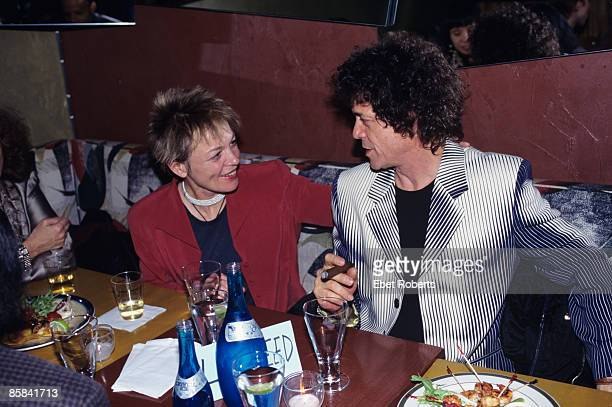 S Photo of Lou REED and Laurie ANDERSON Laurie Anderson and Lou Reed food drink smoking cigar