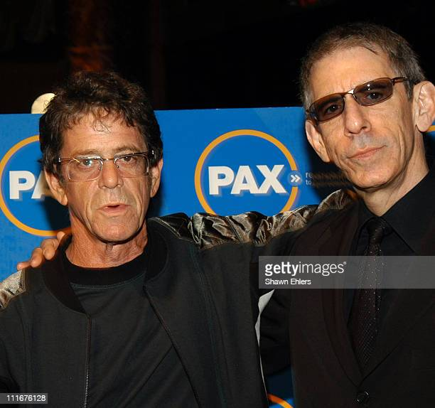 Lou Reed and Richard Belzer during PAX Benefit Gala 2004 at Cipriani in New York City New York United States