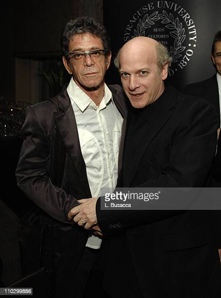Lou Reed and Timothy GreenfieldSanders during Lou Reed is Awarded George Arents Pioneer Medal Syracuse University's Highest Alumni Award at W New...
