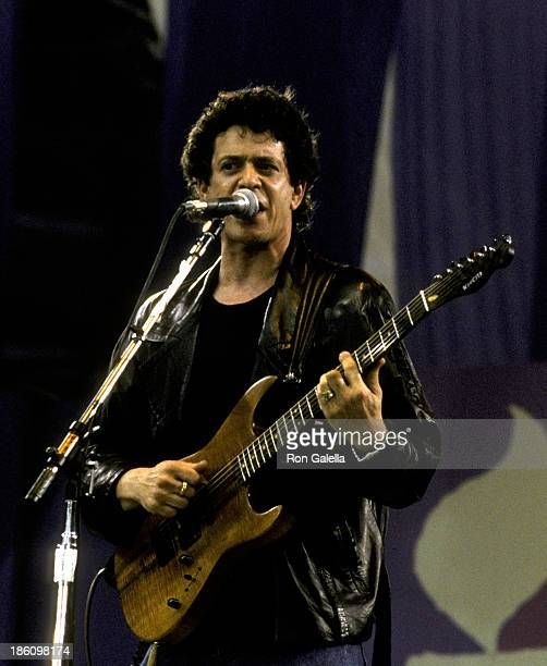 Lou Reed attends Amnesty International Benefit Concert on June 15, 1986 at Giant's Stadium in East Rutherford, New Jersey.