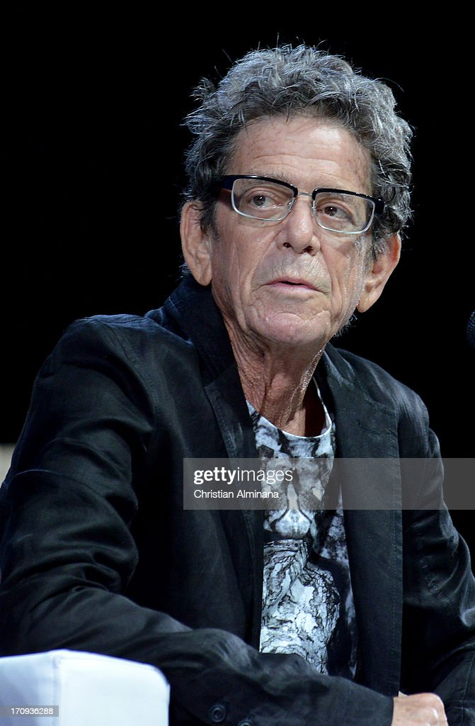 Lou Reed attends the Grey Group Seminar during the Cannes Lions International Festival of Creativity at Palais des Festivals on June 20, 2013 in Cannes, France.