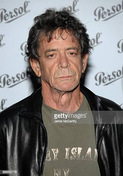 Lou Reed attends the Persol Incognito Design exhibition Ooening at The Whitney Museum of American Art on June 23 2009 in New York City