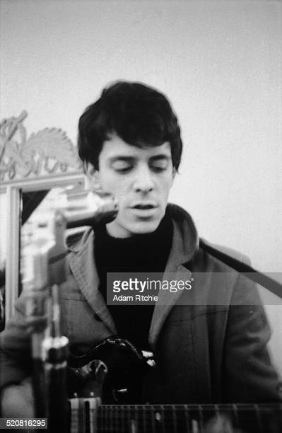 Lou Reed of the Velvet Underground performs on stage at the New York Society for Clinical Psychiatry annual dinner, The Delmonico Hotel, New York,...