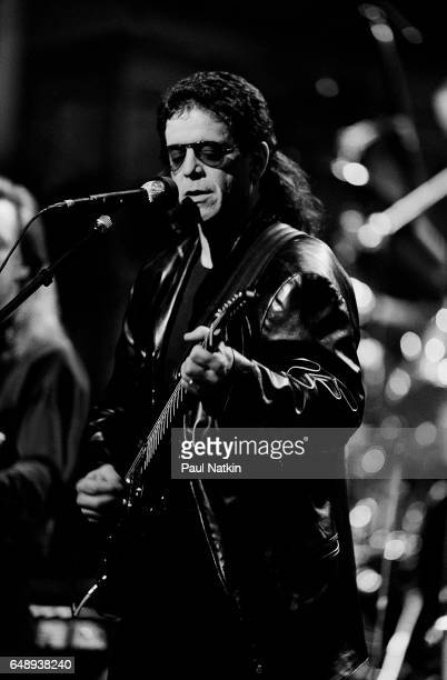 Lou Reed performing on the David Letterman Show at the Chicago Theater in Chicago, Illinois, May 3, 1989.