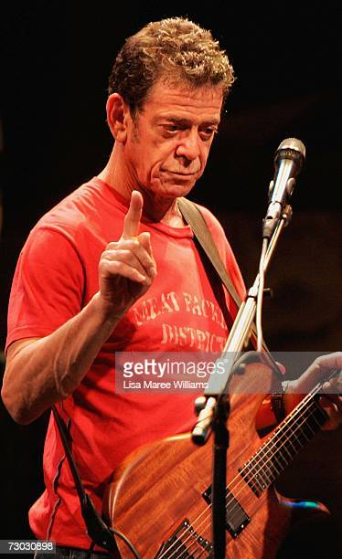 Lou Reed performs Berlin at the State Theatre on January 18 2007 in Sydney Australia In a very special coproduction between New Yorks Arts at St...