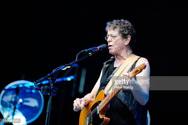 Lou Reed performs on stage at the KunstRasen on June 29 2012 in Bonn Germany