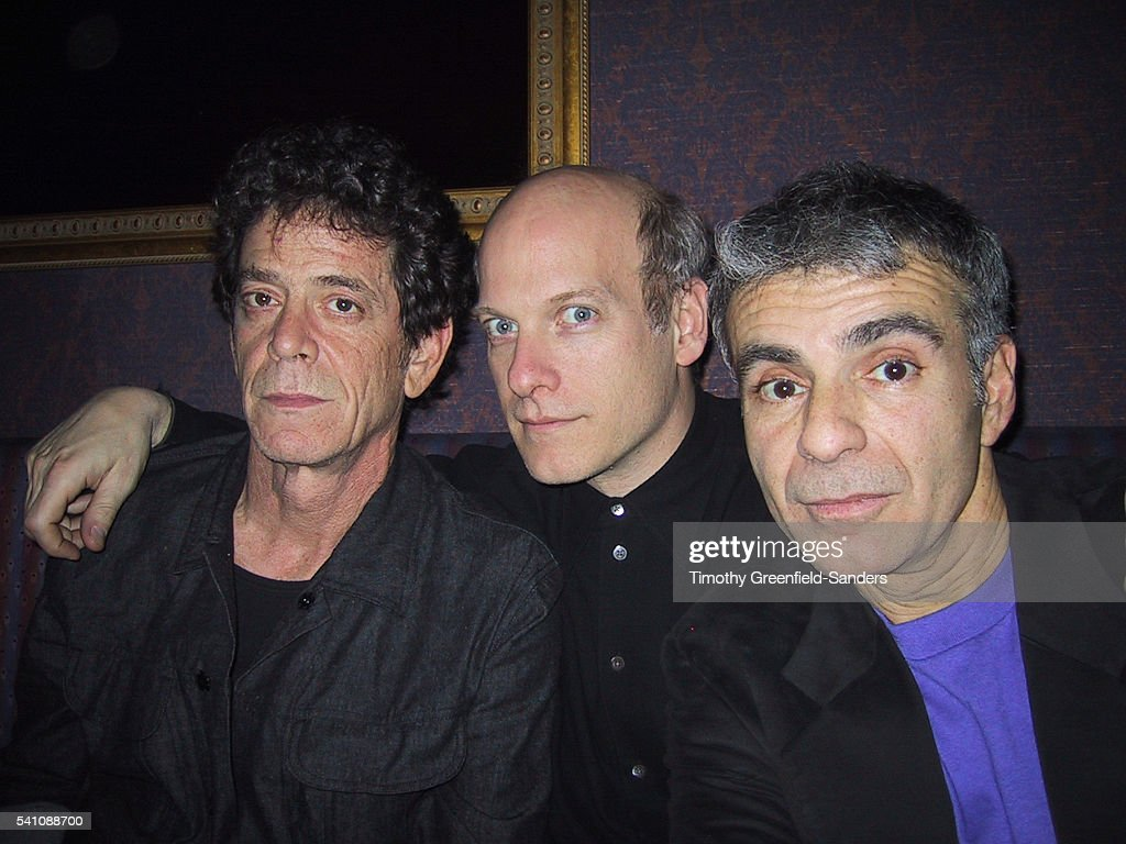 Lou Reed, Timothy Greenfield-Sanders and Ronnie Cutrone