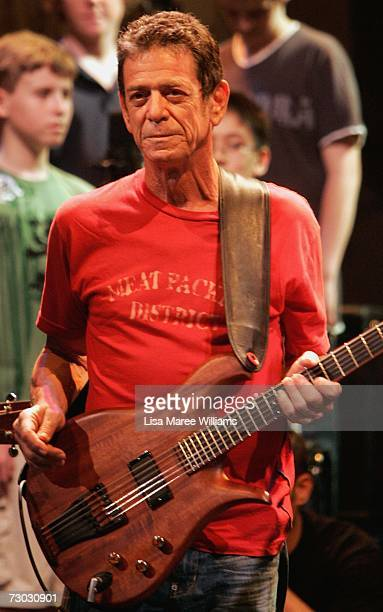 Lou Reed's performs Berlin at the State Theatre on January 18 2007 in Sydney Australia In a very special coproduction between New Yorks Arts at St...