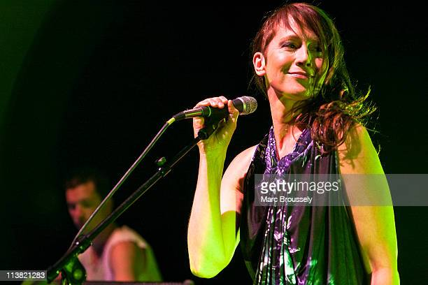 Lou Rhodes of Lamb performs on stage at Shepherds Bush Empire on May 6 2011 in London United Kingdom