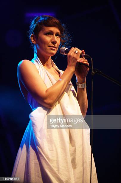 Lou Rhodes of Lamb performs on stage during Summer Series at Somerset House on July 16 2011 in London United Kingdom