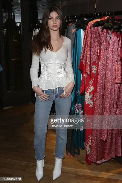 Lou Rouja attends the launch of Wanda Orme X Coco De Mer's new latex imagery on October 24 2018 in London England