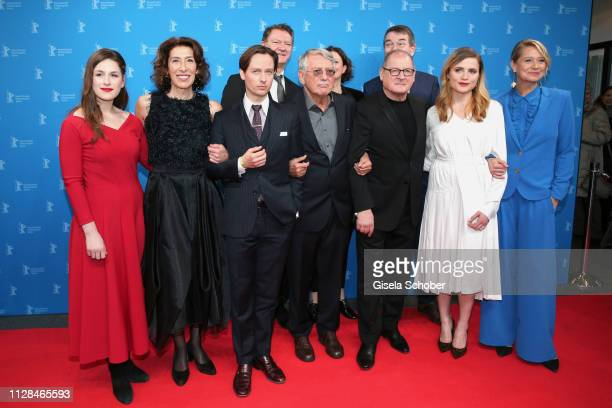 """Lou Strenger, Adele Neuhauser, Tom Schilling, Heinrich Breloer, Burghart Klaußner, Mala Emde and Trine Dyrholm attend the """"Brecht"""" premiere during..."""