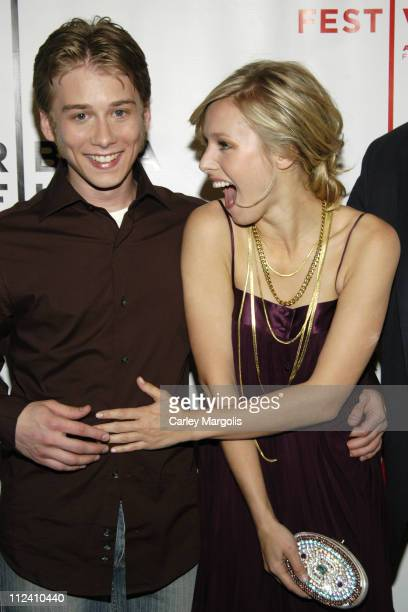 Lou Taylor Pucci and Kristen Bell during 5th Annual Tribeca Film Festival 'Fifty Pills' Premiere Arrivals at Pace University's Schimmel Center for...