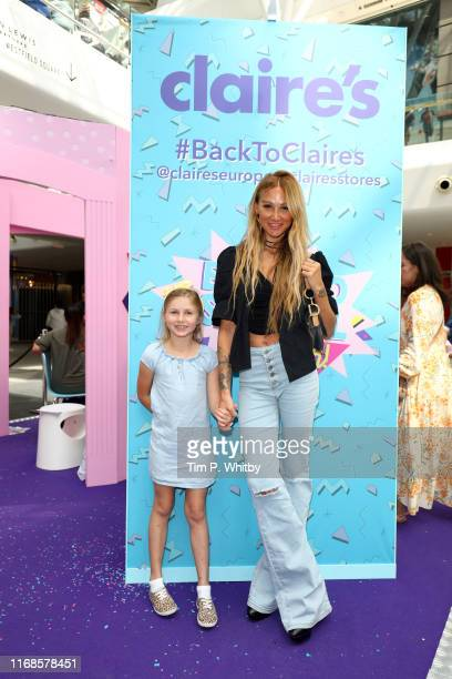 Lou Teasdale and daughter Lux Atkin attend Claire's Back To School Bash which includes lots of fun activities for the family to enjoy including a LOL...