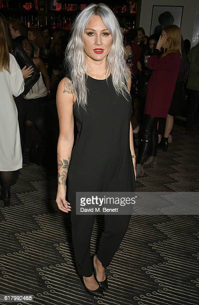 Lou Teasdale attend as Lottie Tomlinson hosts a party to launch her collection Nails Inc X Lips Inc Matchbox collection at Tape London on October 25...