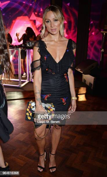 Lou Teasdale attends the REVOLVE 'LA Party In London' hosted by Winnie Harlow at Hotel Cafe Royal on May 31 2018 in London England