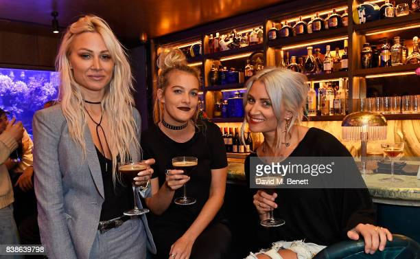 Lou Teasdale Laura McMonagle and Sam Campbell at Jack Guinness hosted dinnerin association with Haig Club Clubman at Sexy Fish Mayfair on August 24...