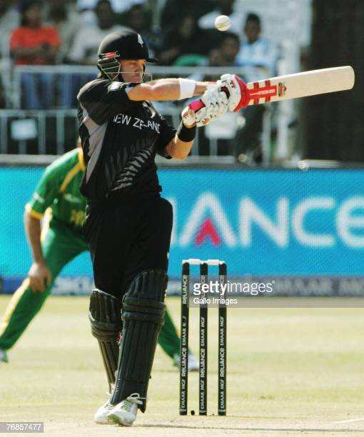 Lou Vincent of Newland in action during the ICC Twenty20 Cricket World Championship Super Eights match between South Africa and New Zealand at...