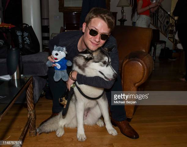 Lou Wegner with Luna the Husky attend Kids Against Animal Cruelty visits TAP The Artists Project on April 28 2019 in Los Angeles California