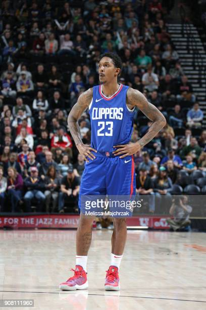 Lou Williams of the LA Clippers as seen during the game against the Utah Jazz on January 20 2018 at Vivint Smart Home Arena in Salt Lake City Utah...