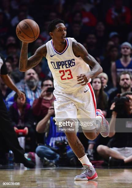 Lou Williams of the LA Clippers dribbles during a 126118 Minnesota Timberwolves win at Staples Center on January 22 2018 in Los Angeles California