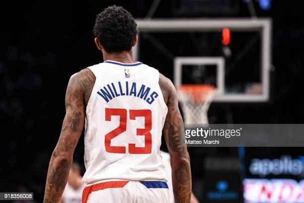 Lou Williams of the LA Clippers during the game against the Brooklyn Nets at Barclays Center on February 12 2018 in the Brooklyn borough of New York...