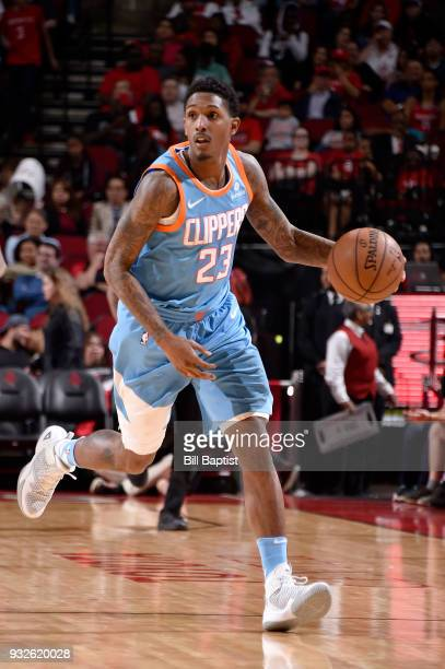 Lou Williams of the LA Clippers handles the ball against the Houston Rockets on March 15 2018 at the Toyota Center in Houston Texas NOTE TO USER User...