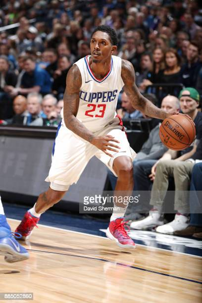 Lou Williams of the LA Clippers handles the ball against the Minnesota Timberwolves on December 3 2017 at Target Center in Minneapolis Minnesota NOTE...