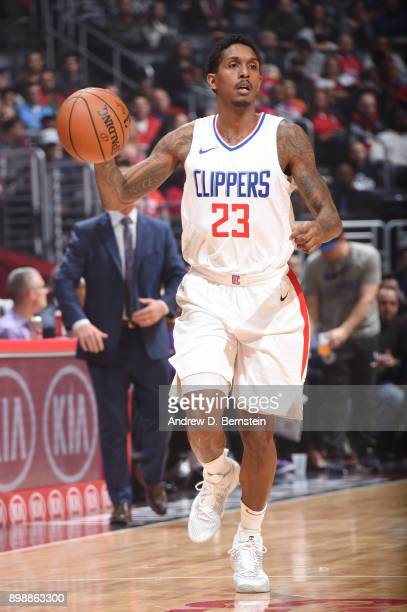 Lou Williams of the LA Clippers handles the ball against the Sacramento Kings on December 26 2017 at STAPLES Center in Los Angeles California NOTE TO...