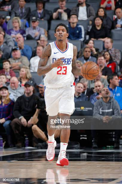 Lou Williams of the LA Clippers handles the ball against the Sacramento Kings on January 11 2018 at Golden 1 Center in Sacramento California NOTE TO...