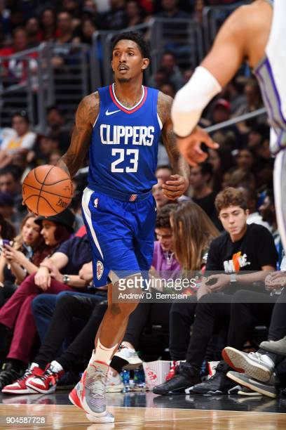 Lou Williams of the LA Clippers handles the ball during the game against the Sacramento Kings on January 13 2018 at STAPLES Center in Los Angeles...