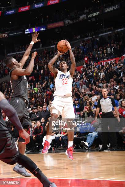 Lou Williams of the LA Clippers shoots the ball against the Brooklyn Nets on March 4 2018 at STAPLES Center in Los Angeles California NOTE TO USER...