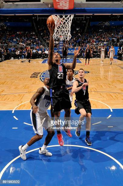 Lou Williams of the LA Clippers shoots the ball against the Orlando Magic on December 13 2017 at Amway Center in Orlando Florida NOTE TO USER User...