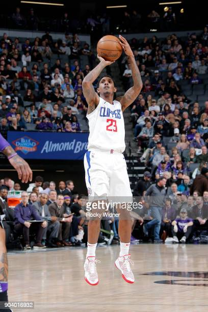 Lou Williams of the LA Clippers shoots the ball against the Sacramento Kings on January 11 2018 at Golden 1 Center in Sacramento California NOTE TO...