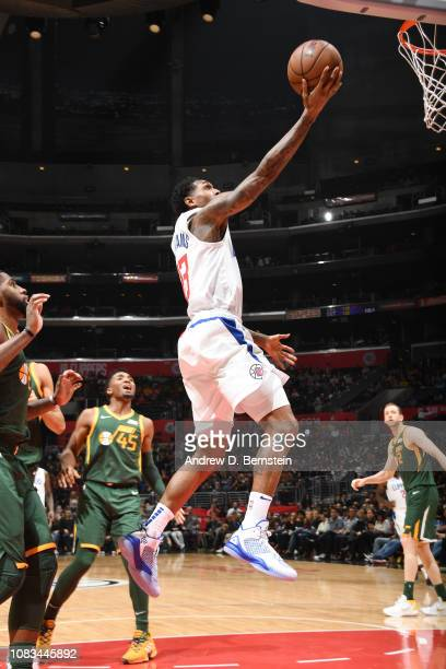 Lou Williams of the LA Clippers shoots the ball against the Utah Jazz on January 16 2019 at STAPLES Center in Los Angeles California NOTE TO USER...