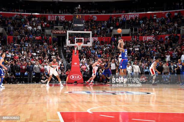 Lou Williams of the LA Clippers shoots the ball during the game against the Washington Wizards on December 9 2017 at STAPLES Center in Los Angeles...