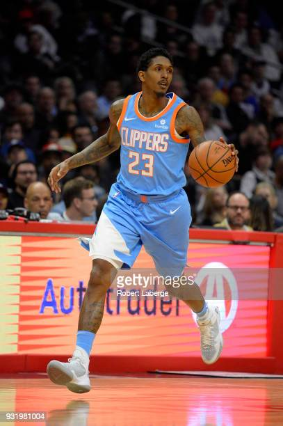Lou Williams of the Los Angeles Clippers plays against the New Orleans Pelicans at STAPLES Center on March 6 2018 in Los Angeles California NOTE TO...